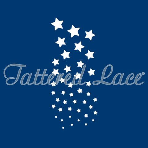 Tattered Lace Dies - Cascading Stars TLD0068 - By Stephanie Weightman